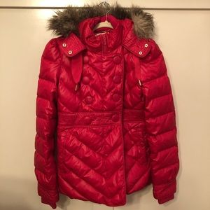 Juicy Couture Muse Puff Coat w Fur Hood
